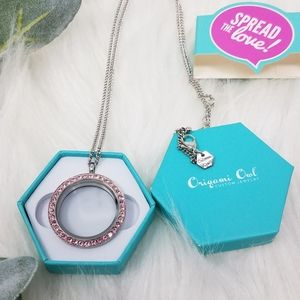 Origami Owl Jewelry - ORIGAMI OWL Pink Crystal Living Locket Necklace